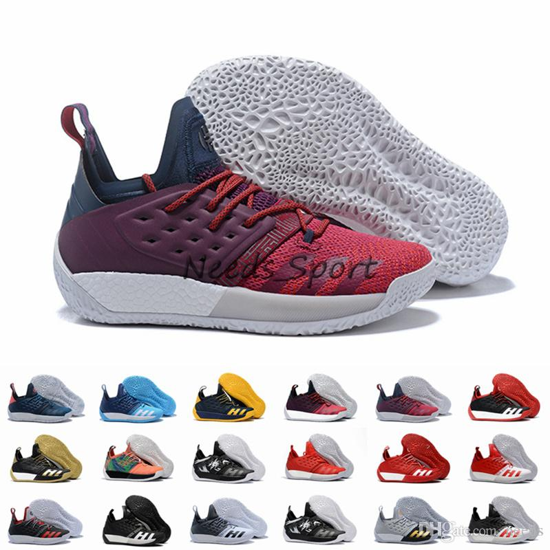 682b05c9a277 2018 Hot Sale Harden Vol.2 Multicolor Black White Gold Mens Basketball  Shoes Cheap Top Quality Harden 2 2s Lightweight Sport Sneakers 40 46 Online  Shoe ...