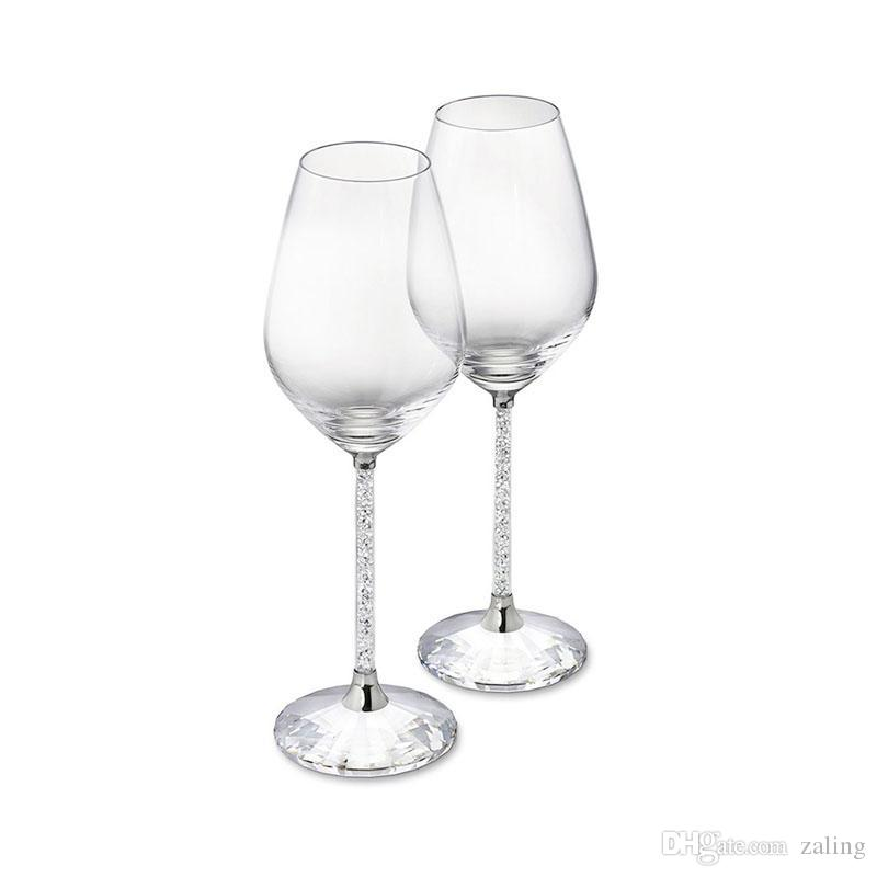 7b542af1a64 Wedding Glasses Goblet Wine Glass Crystalline Luxury Party Toasting ...