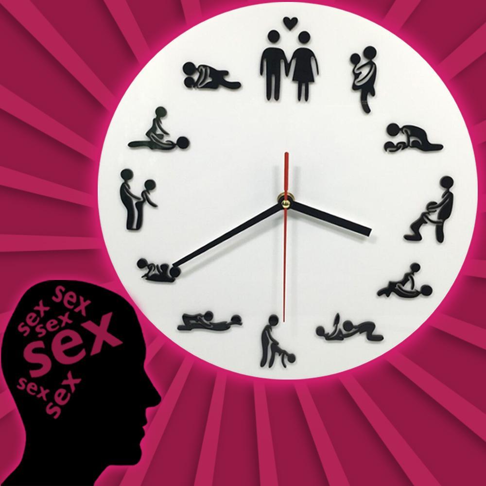 828dd157641 Compre 1 Peça Relógio De Parede Novidade Kama Sutra Sex Posição Relógio 24  Horas De Sexo Fazer Amor Presente De Casamento De Isaaco