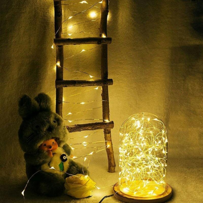 Новые Очень длинные светодиодные фонари 20 М 66 футов 200 светодиодов 5 В USB питание Крытый открытый Серебряный провод рождественский фестиваль свадебные украшения