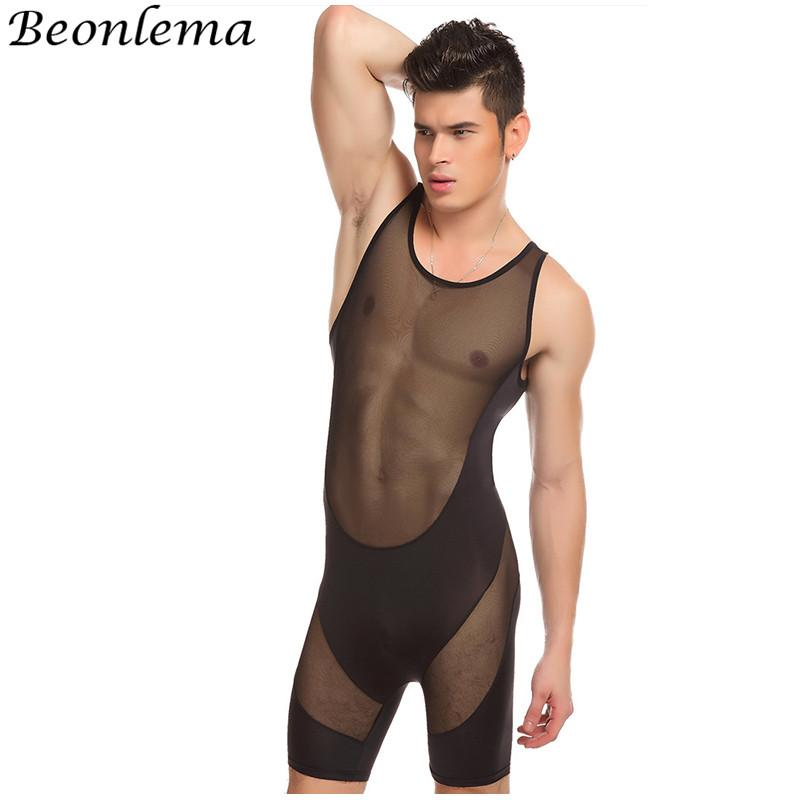 Beonlema Men Bodysuit Body Shaping Underwear Full Body Shaper Vest Sexy  Perspective Hombre Bodysuits XL Black Shaperwear UK 2019 From Aidior001 af58e2519