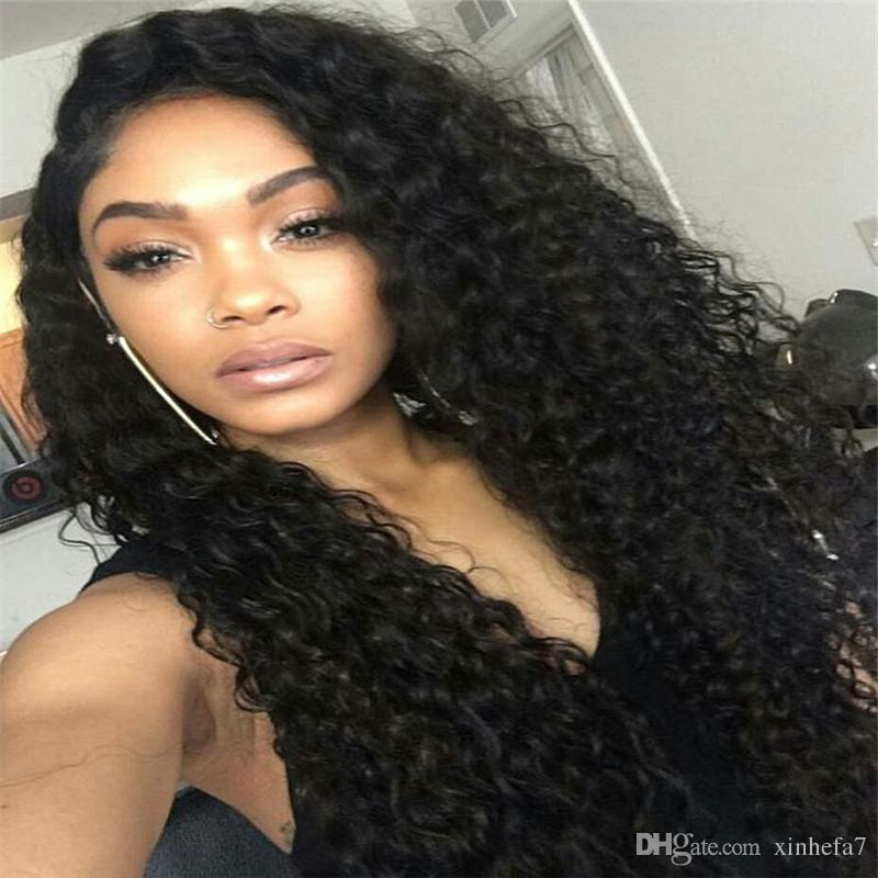 Glueless full lace wigs lace front wig cheap Brazillian Kinky curly 100% human kinky curly hair weave full lace human hair wigs