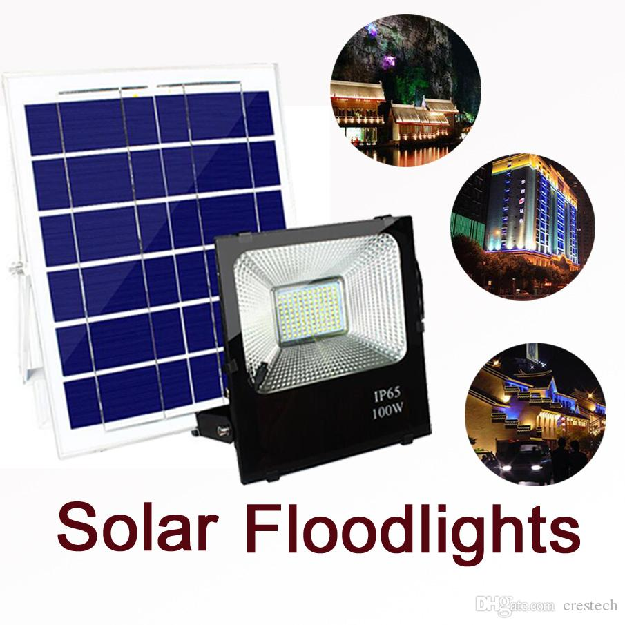 2018 Led Solar Flood Light Outdoor Security Wall Lights Waterproof