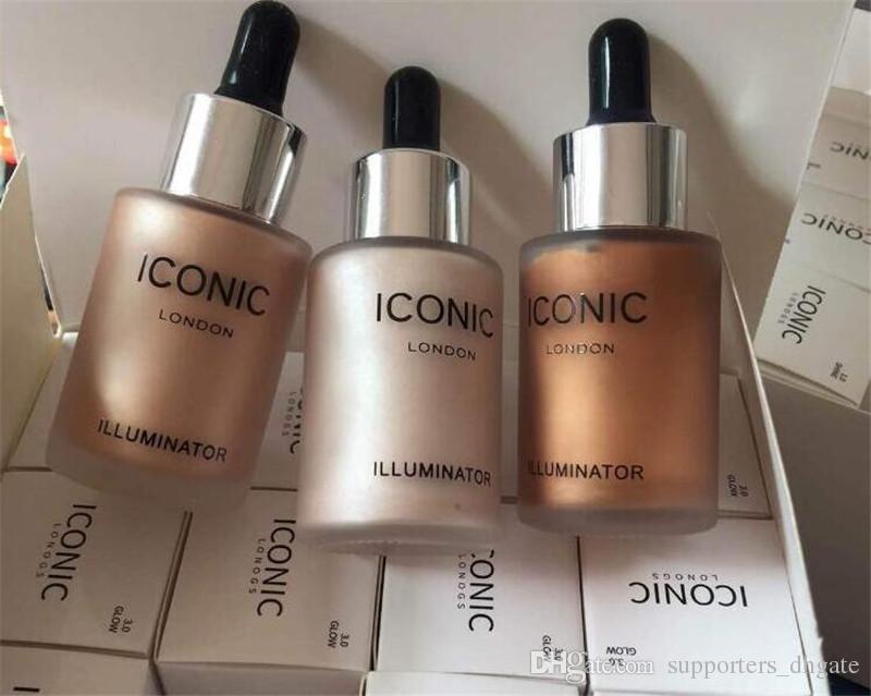 Dropshipping icónico Londres maquiagem iluminador líquido highlighters 3 cores brilho brilho rosto original make up cosméticos frete grátis