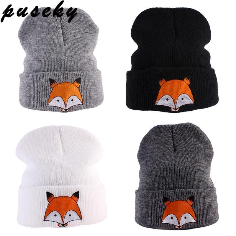 e6b1227a4f6 Puseky Cute Baby Hat 2017 Winter Newborn Infant Toddler Kids Girl Boy Hats  Infant Soft Warm Crochet Knit Hat Fox Beanie Cap Crochet Kniing Hat Hat  Infant ...