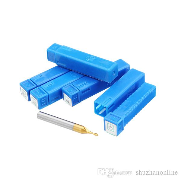 2 Flute 2/3/4/5/6mm Milling Cutter HSS Titanium Coated 6mm Shank End Mill CNC Tool