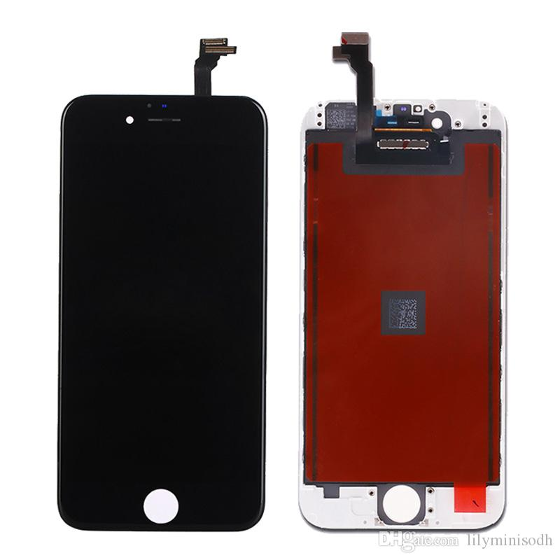 new arrivals 30111 7c27e Black White Assembly LCD Display Digitizer for iPhone 6 Quality LCD Touch  Screen for iPhone 6S Fast Free Ship