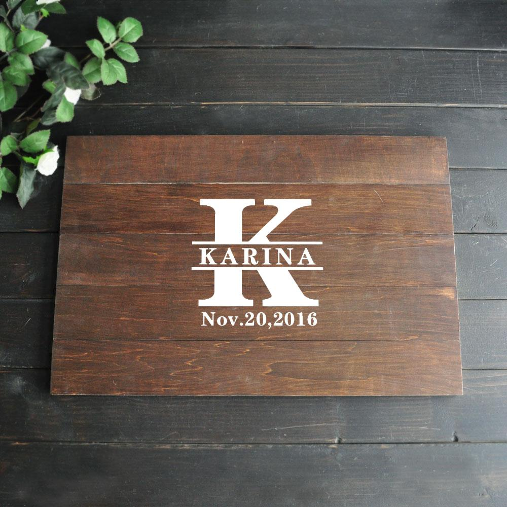 2019 Alternative Wooden Guest Book Wedding Ideas Personalized Name