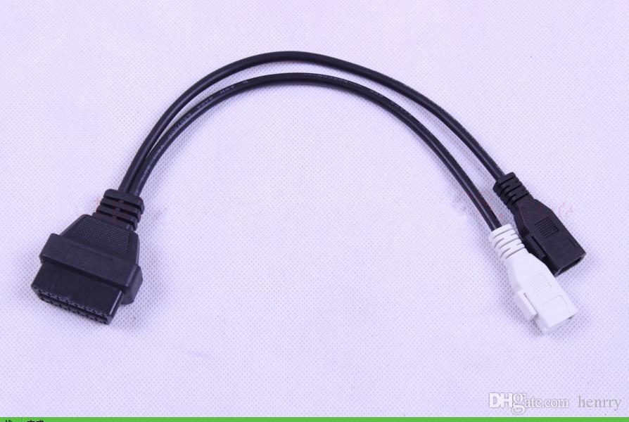 100PCS VAG 2x2 To OBD2 16 Pin Adaptor For Audi 2*2 To OBD2 Adapter 2 2 Audi  VAG Diagnostic Tools OBD1 Cable OBD2 DHL