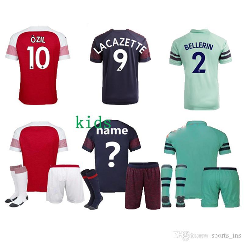 Thailand Kids Arsenal Soccer Jerseys BELLERIN M.ELNENY LACAZETTE ... a4d703321