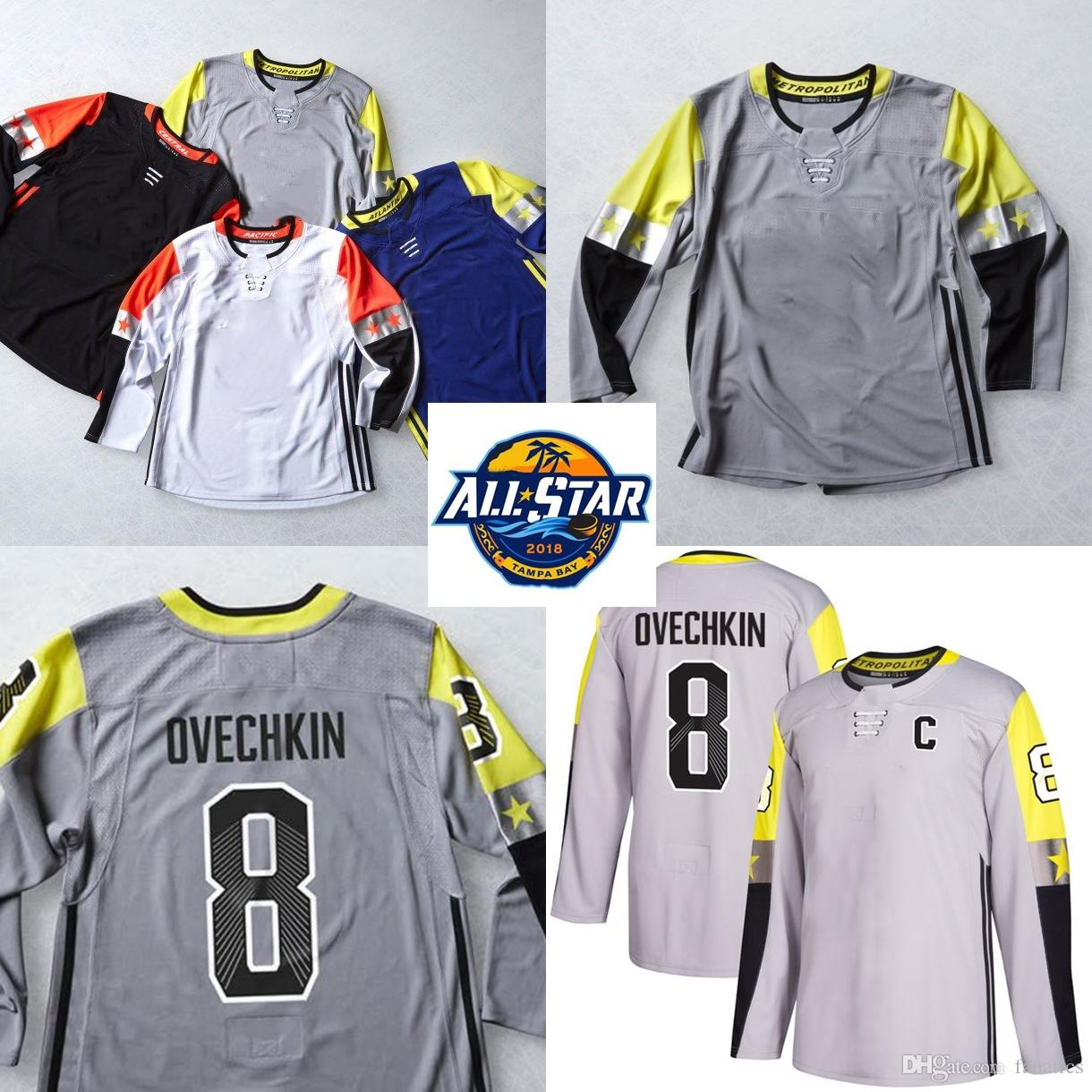 Mens 2018 All-Star AD Metro Division 8 Alexander Ovechkin John ... 7f1bcf3fc
