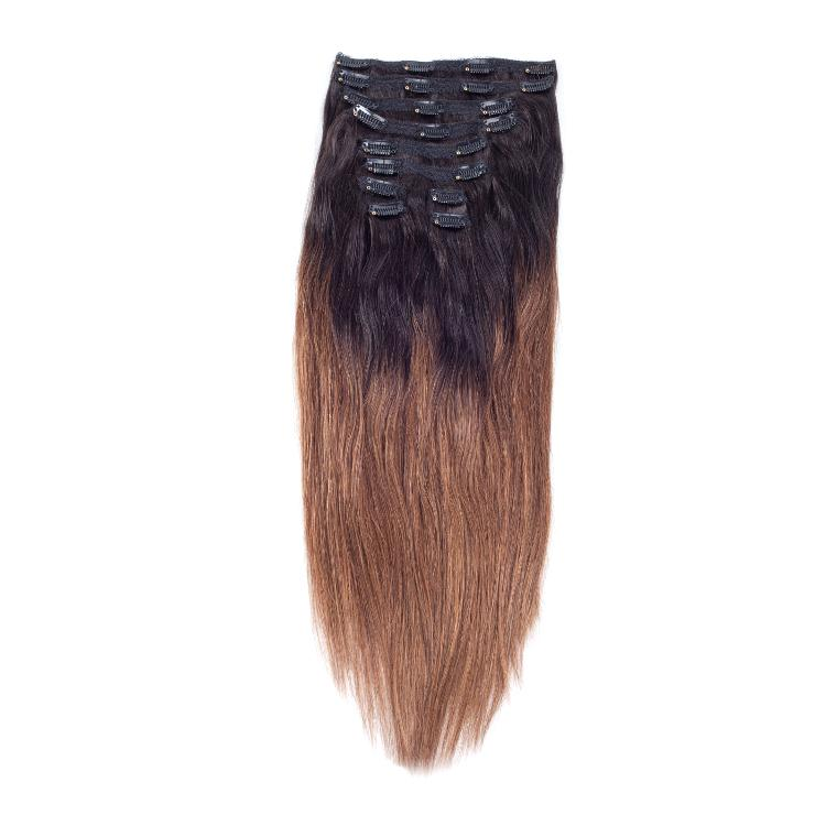 Factory Direct Hair Wholesale Price 14 26 100g Ombre Clip In Hair