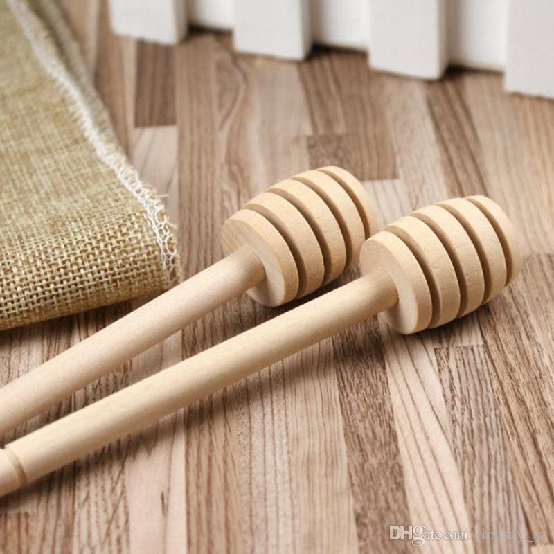 8 cm 10 cm 15 cm Mini Holz Honig Stick Holz Löffel Stick Honig Dipper Honig Rühren Bar Party Supply OPP tasche verpackung schnelles verschiffen