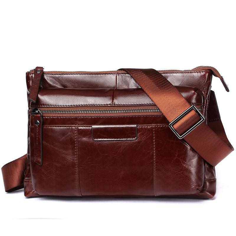 2018 Sell Hot Men s Messenger Bag Business Simple Briefcase Genuine ... 69dc27b420