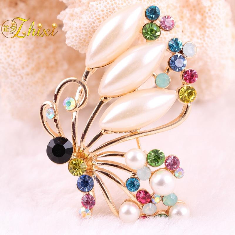 63b464832fd 2019 ZHIXI Simple And Stylish Brooches For Women Shiny Zircon Jewelry Brooch  Pins White Fine Jewelry Anniversary Gift Parrot B100 From Qualitywatch, ...