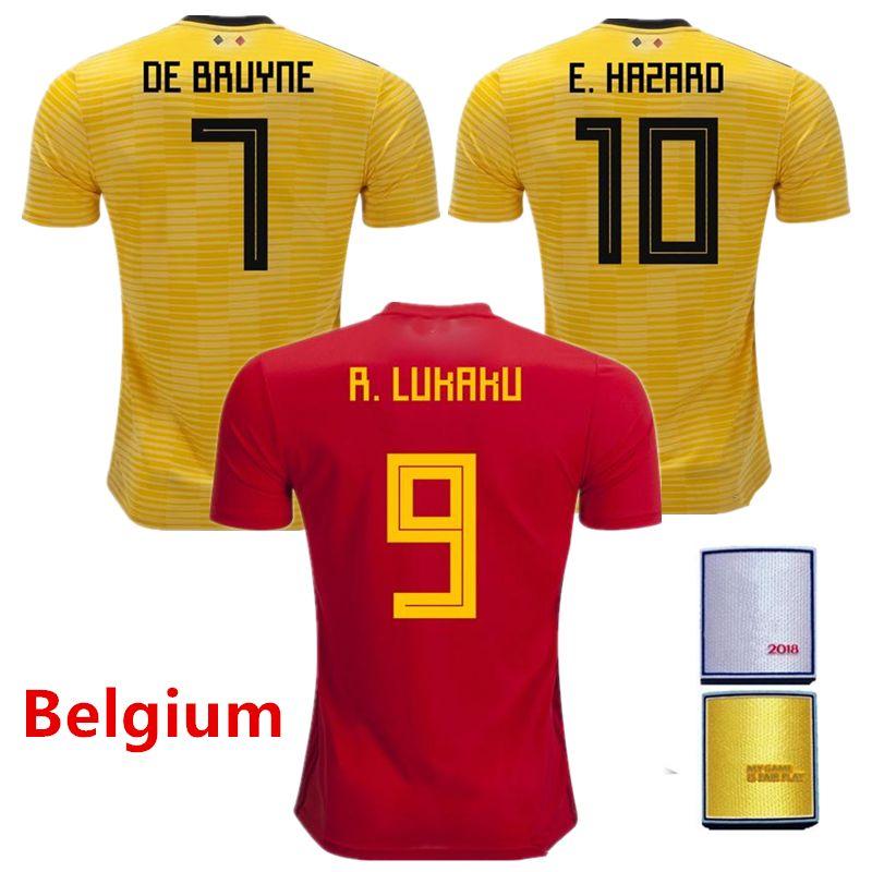 7e78b8f45 2019 S XL Belgium Jersey 2018 World Cup Top Thailand Quality LUKAKU  FELLAINI E.HAZARD KOMPANY DE BRUYNE Mens Soccer Jerseys Football Shirt From  Shimaishimai ...