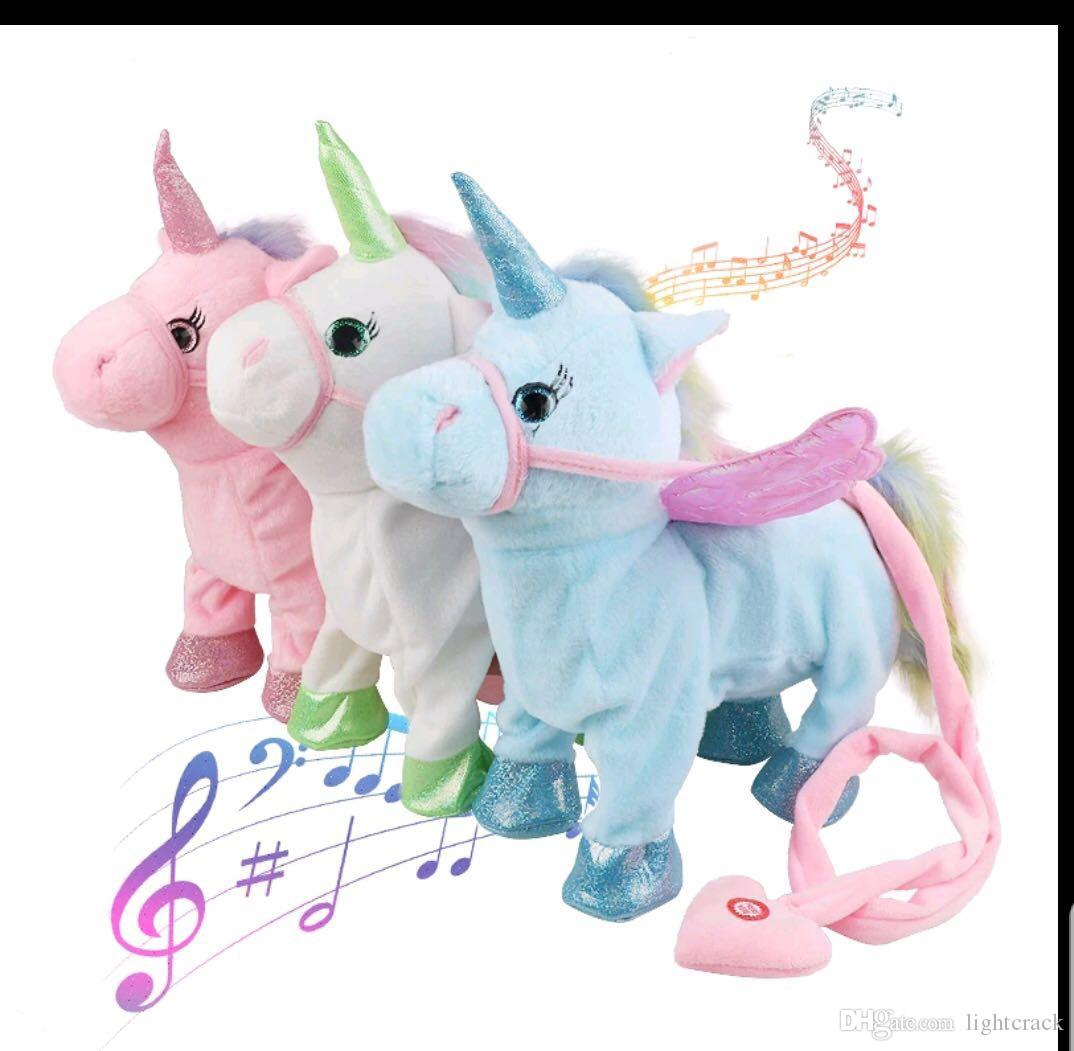 Surprising Walking Unicorn Interactive Plush Shiny 13 Plush