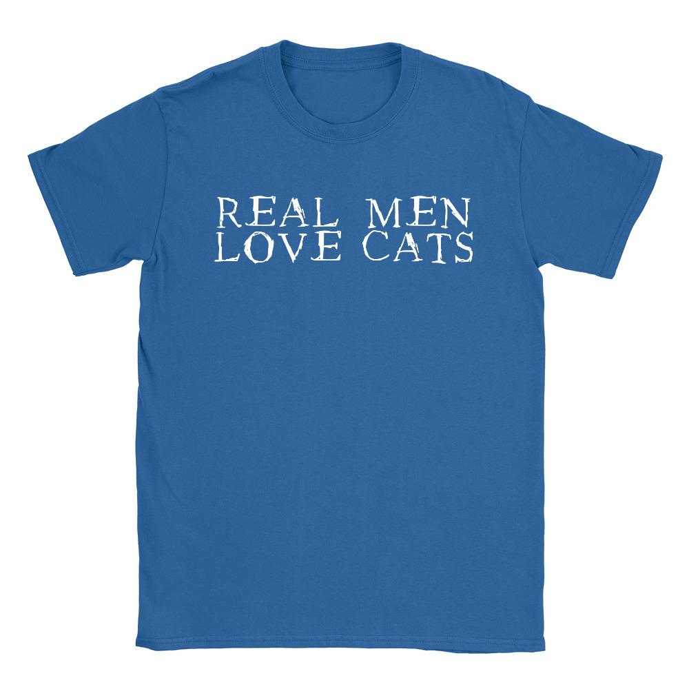 a1ae6d58c9f Real Men Love Cats Mens T Shirt Funny Gift For Boyfriend Cat Lover Present  10 T Shirts Cool Shirts Designs From Popthreads