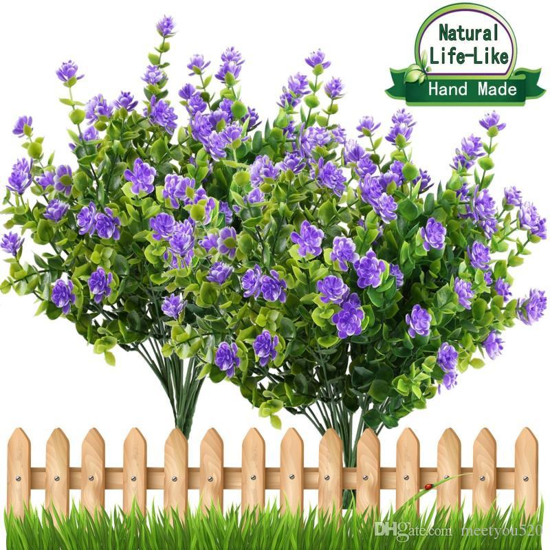 2019 Artificial Flowers Outdoor Uv Resistant Plants Shrubs