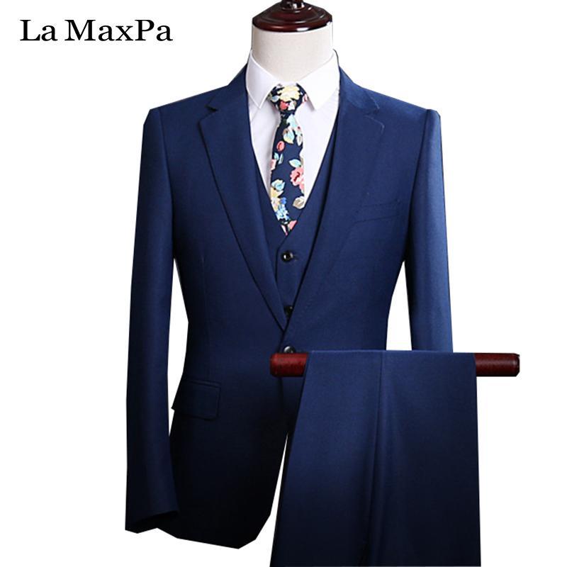 Acheter La MaxPa Veste + Pantalon + Gilet Costume De Laine Sur Mesure Pour  Mariage Slim Fit Costume De Fête Pour Homme De Haute Qualité YB002 De   162.66 Du ... bc4ab0300df