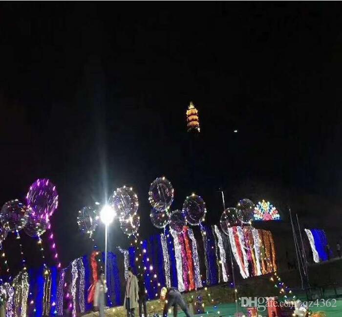 18 inç dalga top ışık LED ışıkları topu 3 metre LED ışık kabarcık topu gece pazarı patlama