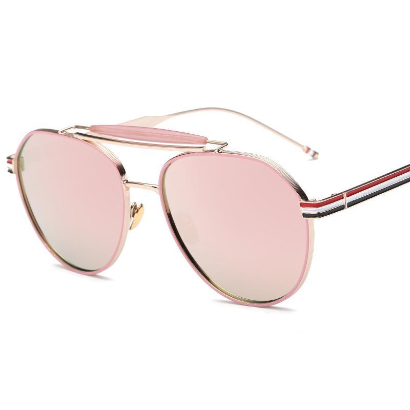 Unique Women Fashion Sunglasses Luxury Sunglass Women Metal Driving Pilot  Pink Mirror Glasses Gold Frame Lunette De Soleil Femme Womens Sunglasses ... 7cfd55988d7a