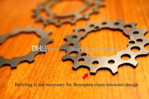 Titanium TC4 Bicycle External Hub 2 Speed Hub Flywheel Gears Sprockets 12T 13T 14T 15T 16T 17T for Brompton