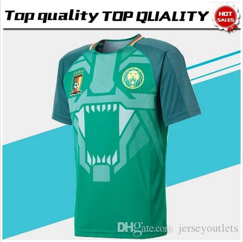 3bf57ac81 2018 Cameroon Home Green Soccer Jersey Cameroon Home Soccer Shirt 2018  Cameroun Football Uniform Sales Football Jersey Online with  20.12 Piece on  ...