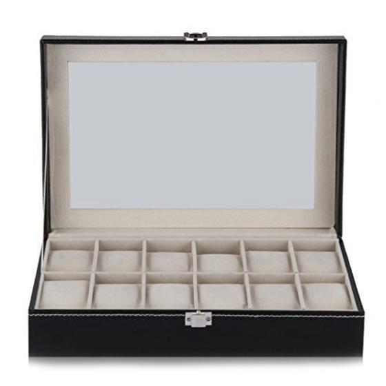12 Grid Watch Display Case Wrist Watch Storage Box Jewelry Storage