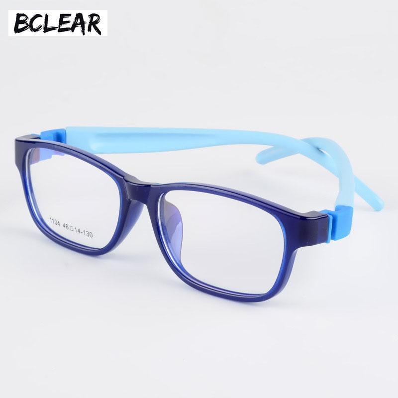 f17d9621b3f59 2019 BCLEAR Kids Glasses Frames Optical Spectacle Frames Child Girls Boys  Flexible Square Myopia Prescription Eyewear TR90 Silicone From Buafy, ...