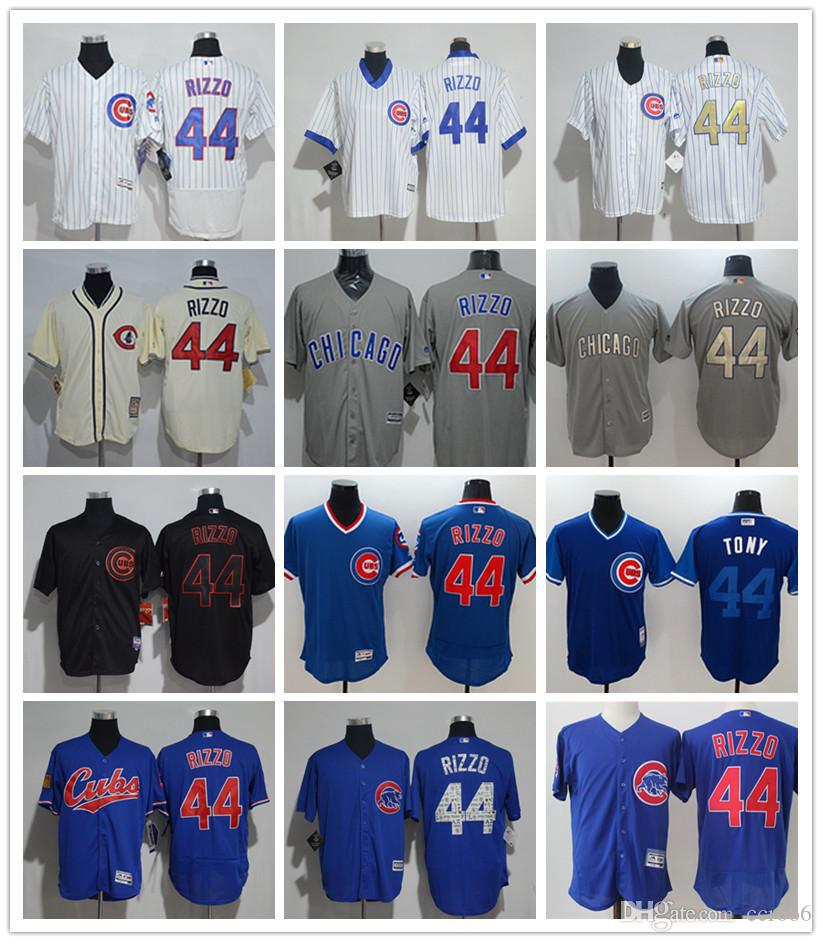 bb5ca7702a9 ... low cost 2018 2018 custom mens women youth chicago cubs jersey 44  anthony rizzo home blue