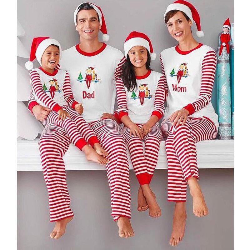 2f50fc1c32 Compre PUDCOCO Pijamas De Navidad A Juego De La Familia Pop Más Reciente  Conjuntos De Pijamas Ropa De Dormir De Navidad Ropa De Dormir Camiseta  Casual ...