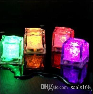 Led Ice Cube Flash Lento Fluorescente Blocco Auto Modifica Crystal Cube Bar Festa di Nozze San Valentino Giorno Fornitore Fornitore DHL HH7-968