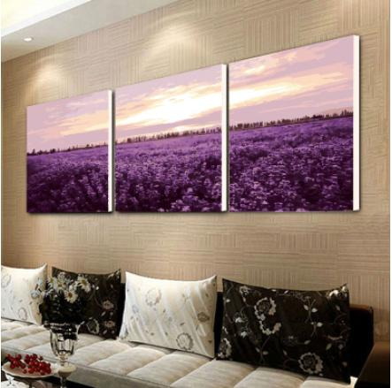 Modern Gallery Wrapped Giclee Canvas Print Artwork Abstract Landscape 3 panels Picture on Canvas Wall House Decoration Murals