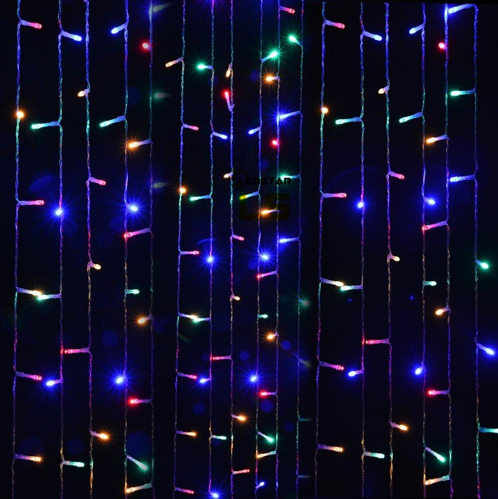 300 LEDs Curtain Icicle Lights AGPtEK 3M X 3M 8 Modes White Fairy String Lights for Christmas Wedding Home Garden Outdoor Window