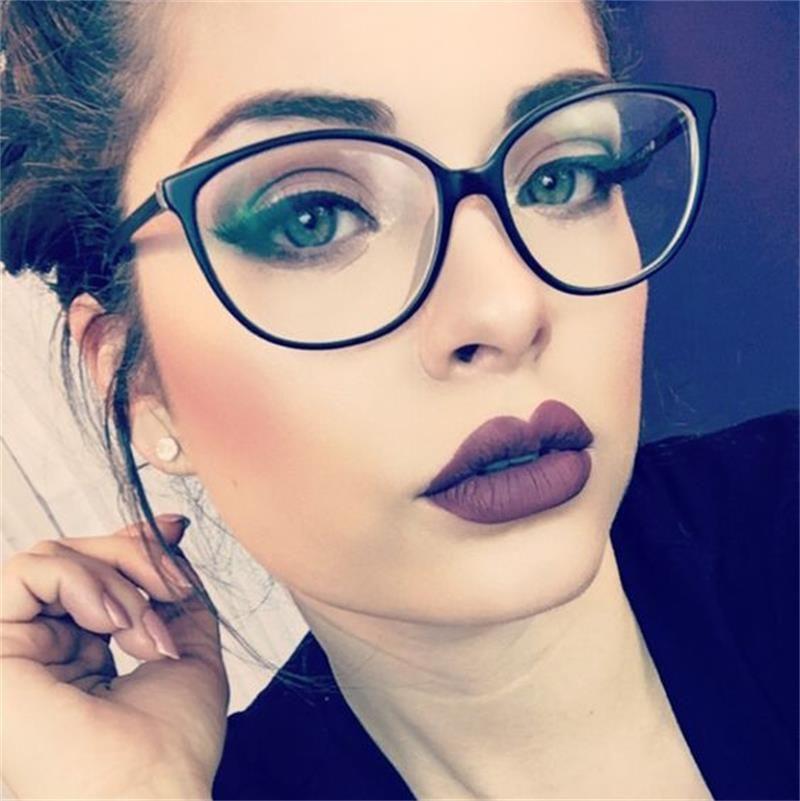 6abf0ea000 Compre Monturas De Gafas Vintage Ojo De Gato Monturas De Gafas Para Mujer  Lente Transparente Marco Pequeño Diseñador De Marca Marcos Ópticos Miopía  Empollón ...