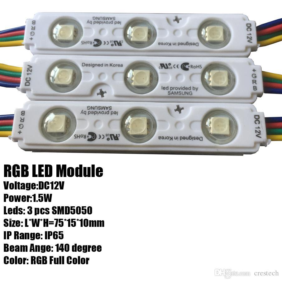 IP68 삼성 SMD 5630 5730 LED 모듈 라이트 광고 램프 1.5W 3Leds 서명 백라이트 방수 12V 흰색 삼성 칩