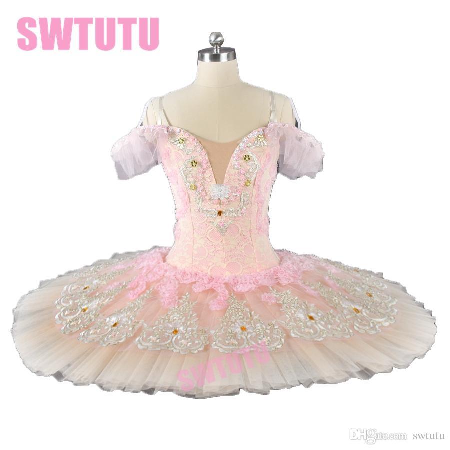 Acquista Pancake Tutu Costume Adulto Peach Fairy YGAP Professionale  Competiton Tutu Di Balletto Donna Sleeping Beauty Ballerina BT9028B A   241.21 Dal Swtutu ... 563deb4ab4e