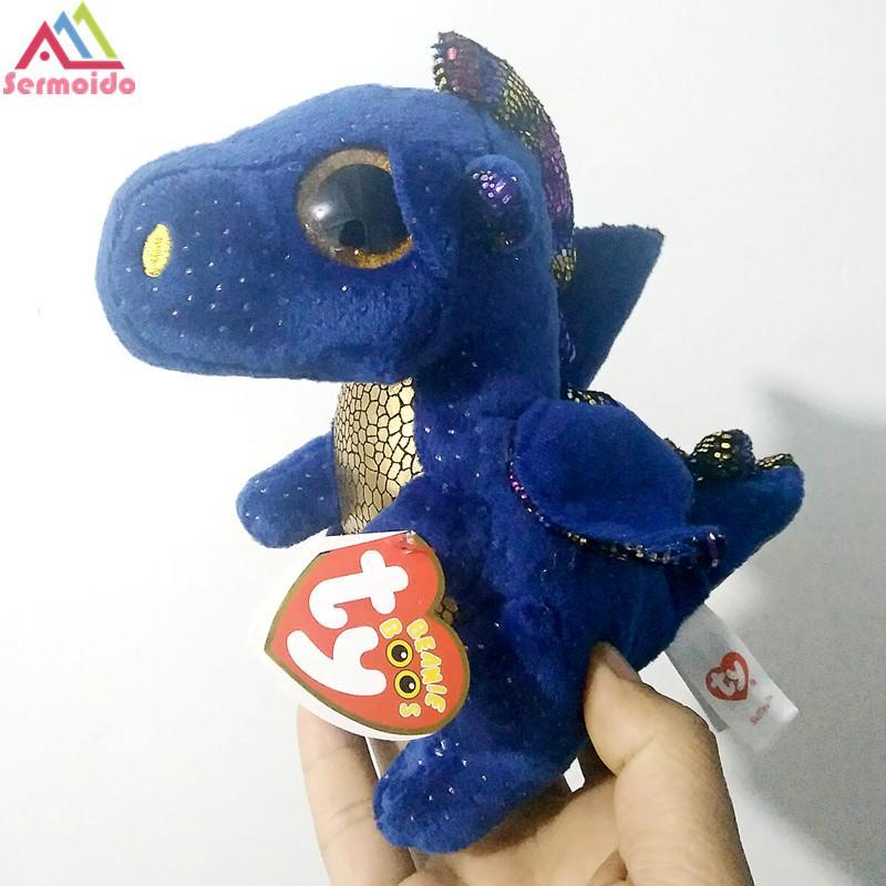 2019 Sermoido TY 6   Beanie Boos Cinder The Green Dragon Plush Cute Stuffed  Doll Kids Birthday Gift Plush Toy Kids DBP99 From Sightly 27ffb57eaa0