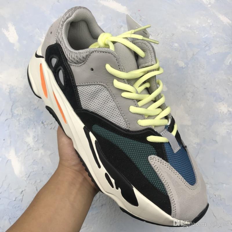 check out ebba8 eb04d new Release⠀Yeezy 700 Wave Runner Kanye West Wave Sneakers Athletic blue  orange Sneaker Free shipping world wide