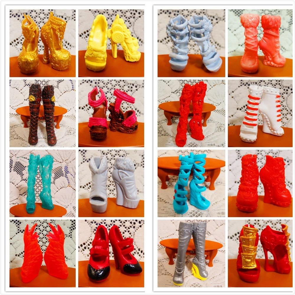 fc4894b9f0 Wholesale-AILAIKI SALE 10Pairs/Lot Toy Fashion Shoes For Monster Dolls  Beautiful High Heels Monster Doll Sandals Boots Mixed-Style Shoes