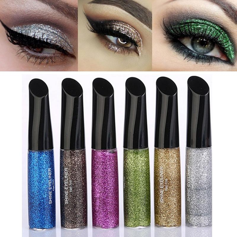 Brand Makeup Waterproof Eye Shadow Pencil Pen Shining Liquid Glitter