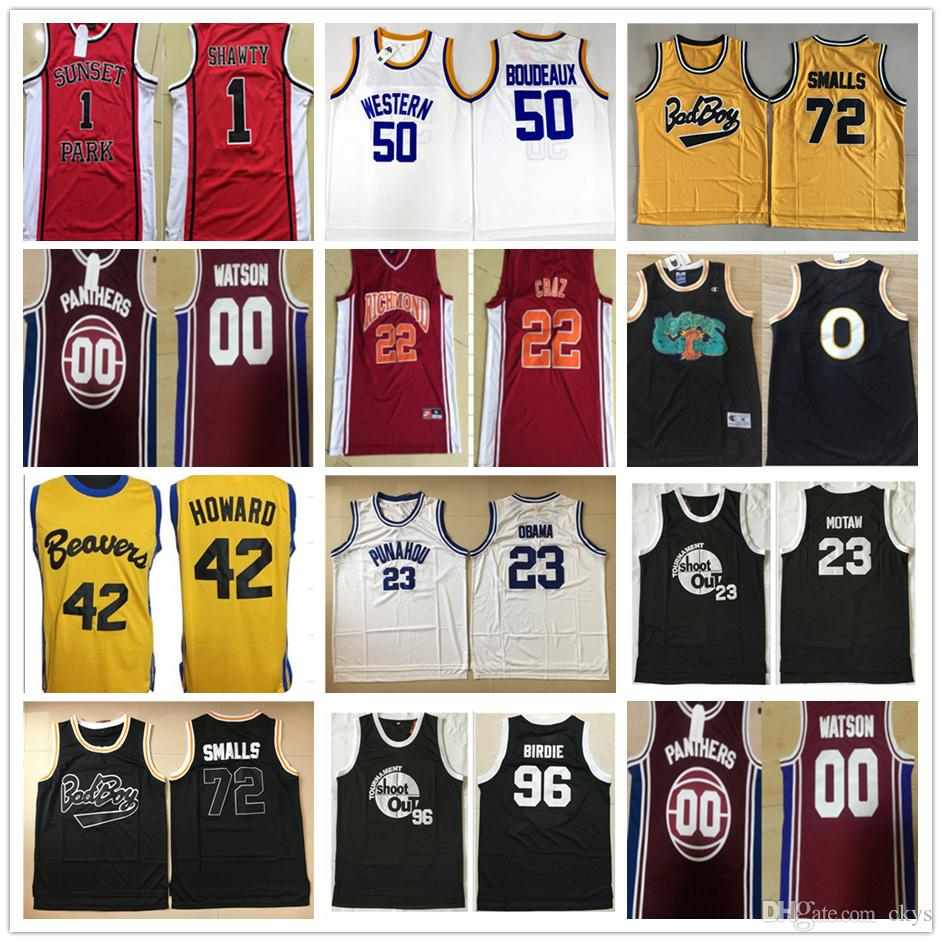 c11a5c581ca NCAMovie Suture Jerseys #96 Tupac Shakur Dirbie 72 Biggie Smalls Out ...