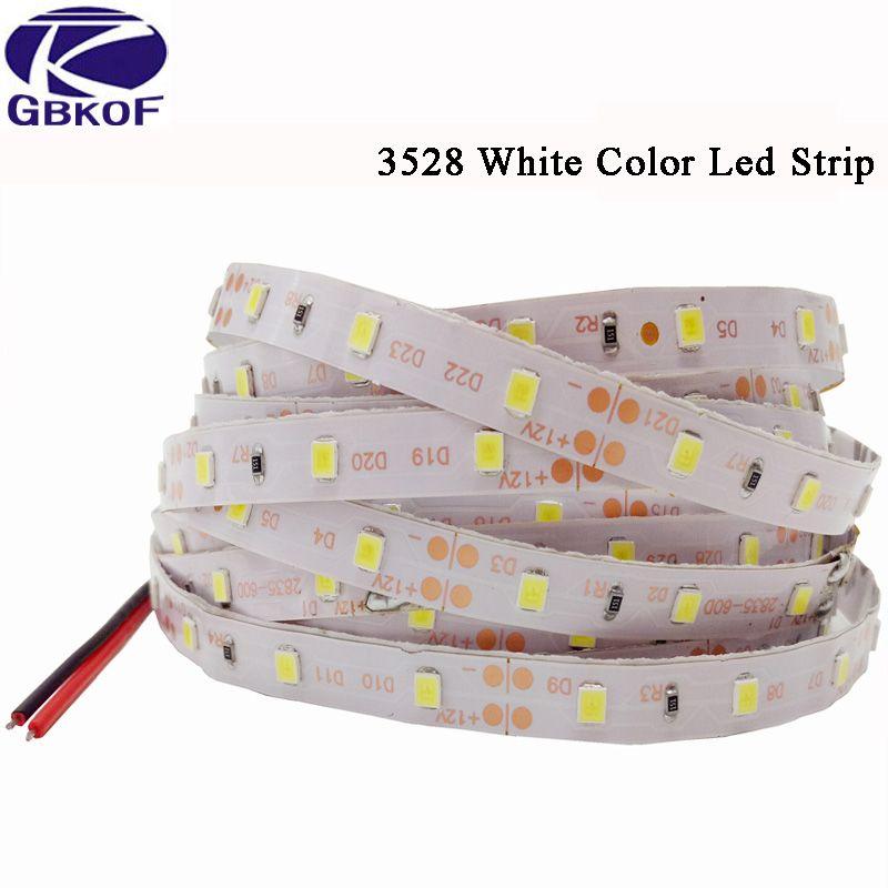 GBKOF LED Strip Light 12V 5M 300Led SMD 3528 2835 5050 Nastro a diodi RGB Nastro a LED singolo Nastro led impermeabile non impermeabile