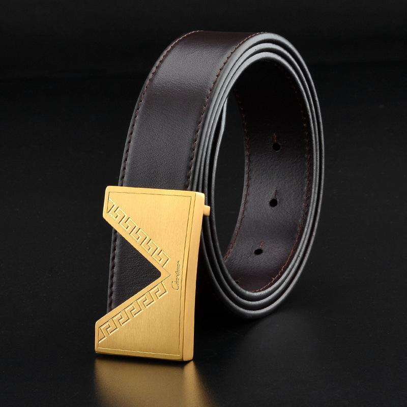 3c5ffb8ac078 Gold Belts Buckles For Men Brand Fashion Genuine Leather Belt Accessories  Male Luxury Buckle Strap Wholesale Money Belts Mens Online Shopping From  Ky1219, ...
