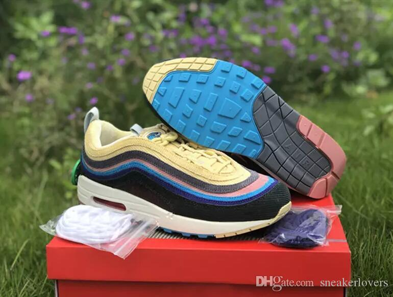 ac0526fcc7 2018 Release 97 Sean Wotherspoon X 1/97 VF SW Hybrid Man Running Shoes  Corduroy Rainbow Top Authentic Sneakers Sports Come With Box Trainers Shoes  Woman ...