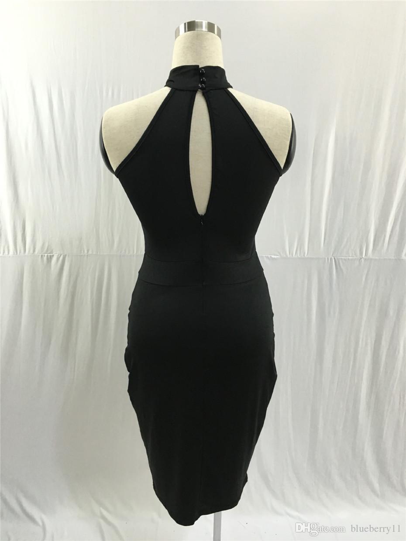 Casual Dresses 2021 Summer Sleeveless Midi Bodycon Dress Backless Sexy Women Club Wear Elegant Mesh Party Black S-XL1