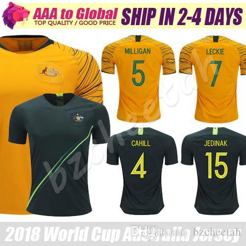 ef2d7e1ae ... hot 2018 australia jersey 2018 world cup australia soccer jersey 4  cahill 15 jedinak 7 leckie