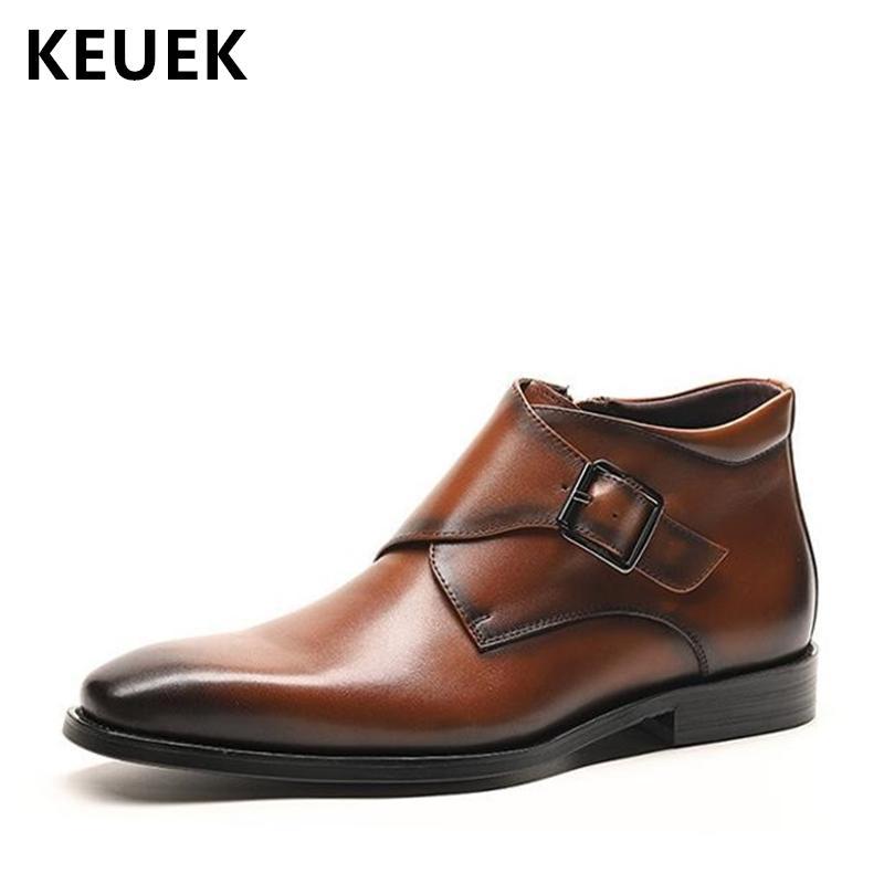 Hohe Qualität Echtes Leder Männer Martin Schuhe herren Lace up Atmungsaktive strapazierfähig Leder Schuhe Vintage Mode männer Arbeiten Schuhe
