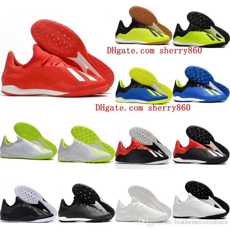 c218d5215 2019 2018 Mens Indoor Soccer Shoes X Tango 18.3 IC IN TF Chaussures De  Football Boots X 18 Soccer Cleats 39 46 High Quality From  Leathersoccershoes, ...